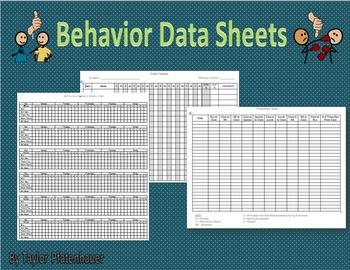 Behavior Data Sheets