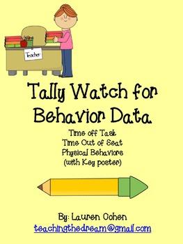Behavior Data Tally Watch (RTI!!!)