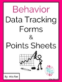 Behavior Data Tracking Forms and Points Sheets