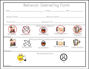 Behavior Debriefing Form