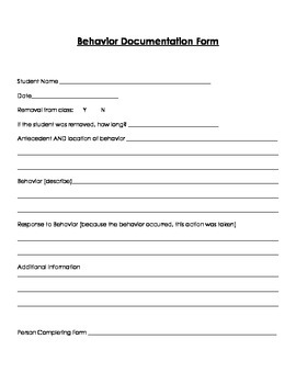 Behavior Documentation (A.B.C. components)