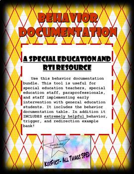 Behavior Documentation Bundle ** Includes Behavior, Trigger & Redirection Bank**