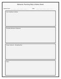 Behavior Documentation Form PBIS SIT GEI RTI Easy to collect data!!