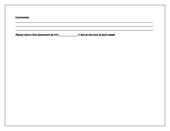 Behavior Documentation Sheet
