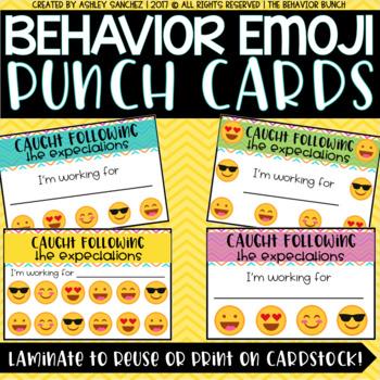 Behavior EMOJI Punch Cards