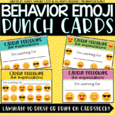Behavior EMOJI Punch Cards