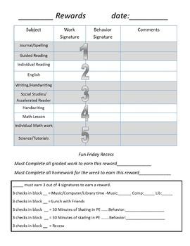 Behavior Earning Plan (EDITABLE)