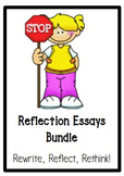 Behavior Essays Bundle (Reflect, Rewrite, Rethink!)