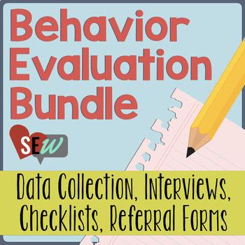 Functional Behavior Assessment Fba Bundle For Individual Behavior