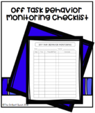 Behavior Evaluation, Off Task Behavior Monitor, Tracking Sheet