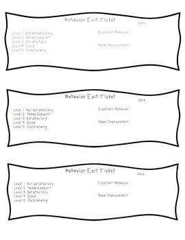 Behavior Exit Ticket
