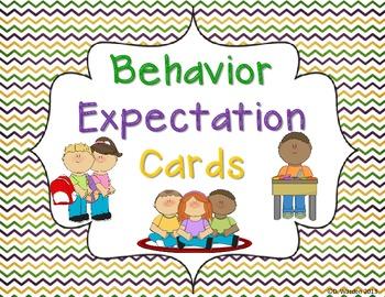 Behavior Expectation Cards