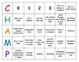 Behavior Expectations Classroom Management Center Chart CHAMPS