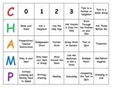 Behavior Expectations Classroom Management Center Chart CHAMPS
