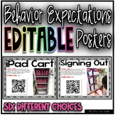 Behavior Expectations Editable Posters