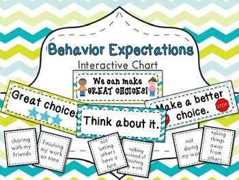 Behavior Expectations Interactive Activity - Making Great Choices!