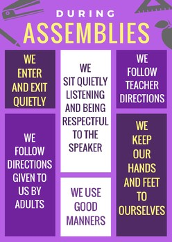 Assembly Behavior Expectations Poster