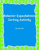 Behavior Expectations Sorting Activity