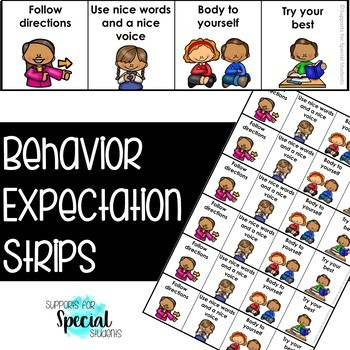Behavior Expectations Strip - Visuals for Supporting Behavior