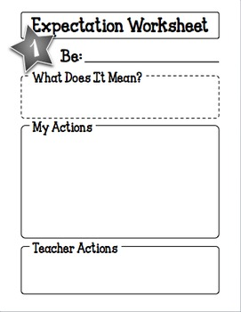 Behavior Expectations Student Led Activity
