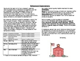 Behavior Expectations and Calendar