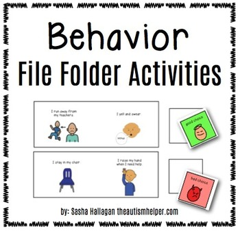 behavior file folder activities by the autism helper tpt. Black Bedroom Furniture Sets. Home Design Ideas