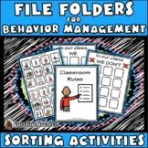 Behavior File Folder Activities: Autism, Aspergers, ED, ADD, ADHD, ED