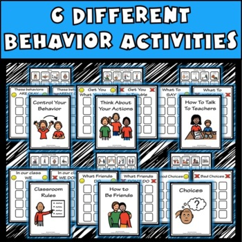 Behavior File Folder Activities: Autism, Aspergers, ED, ADD, ADHD, ED