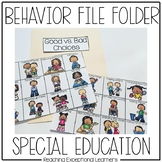 Behavior: Good or Bad Choice- File Folder Activity- Special Education