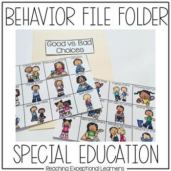 Behavior: Good or Bad Choice- File Folder Activity- Specia