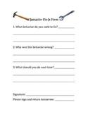 Behavior Fix-It Form: Behavior Management Form