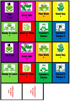 Behavior Flip Cards for Pocket Chart