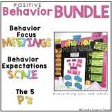 Behavior Focus Meetings AND Behavior Scale + Check-In Charts BUNDLE