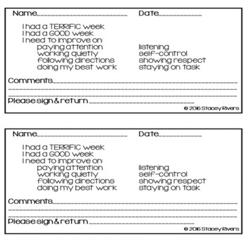 Behavior Form