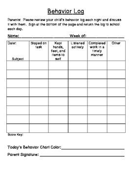 Behavior Forms and Behavior Logs - 175th Follower FREEBIE!