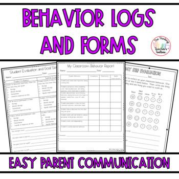 Behavior Forms and Behavior Logs - 175th Follower FREEBIE!