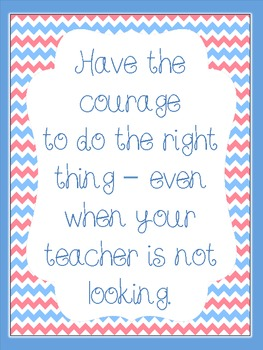 "Behavior Freebie - ""Have the Courage to Do the Right Thing..."""