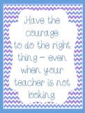 """Behavior Freebie - """"Have the Courage to Do the Right Thing..."""""""
