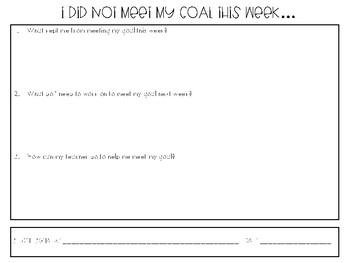 Behavior Goal Chart