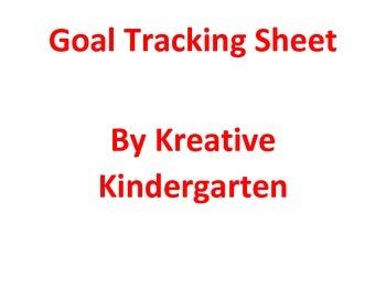Behavior Goal Sheet