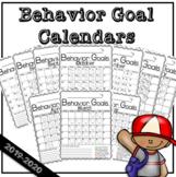 Behavior Goals Calendar 2019-2020 August-June