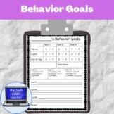 Student Behavior Goals Forms (33 Forms)