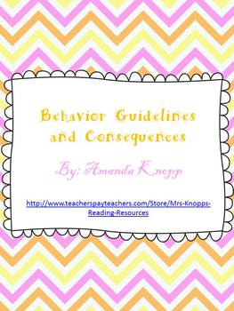 Behavior Guidelines and Consequences