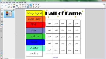 Behavior Hall of Fame Tracker (Smartboard)