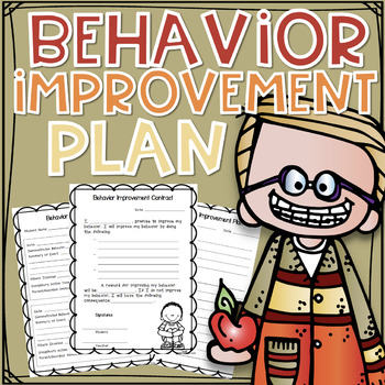 Behavior Improvement Plan and Contract