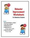 Behavior Improvement Worksheets