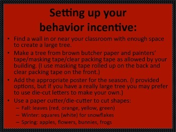 Behavior Incentive