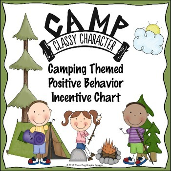 Behavior Incentive Chart - Camping Themed Printable