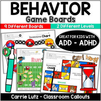 Behavior Incentive Charts/Gameboards for Kids with ADHD/ADD