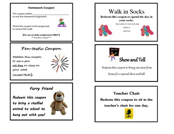Behavior Incentive Coupons